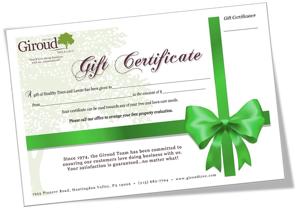 Mother's Day Gifts for Moms who Love Trees Giroud Certificate