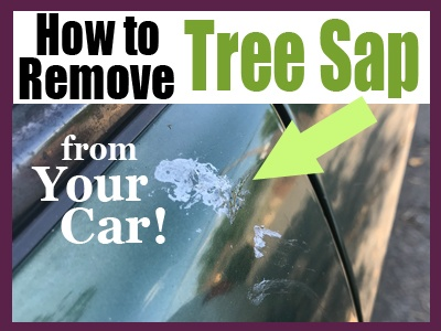 How to Remove Tree Sap from a Car